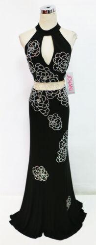 Black Formele Jovani Prom jurk 00498 Pageant Nwt e2D9WEIYbH