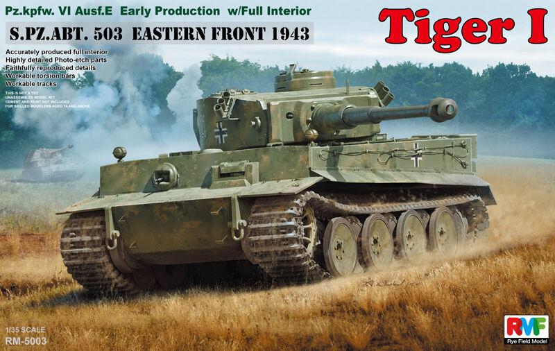 Rye Field Model RFM RM-5003 1 35 Tiger I Early Production w Full Interior