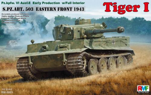Rye Field Model RFM RM-5003 1//35 Tiger I Early Production w//Full Interior