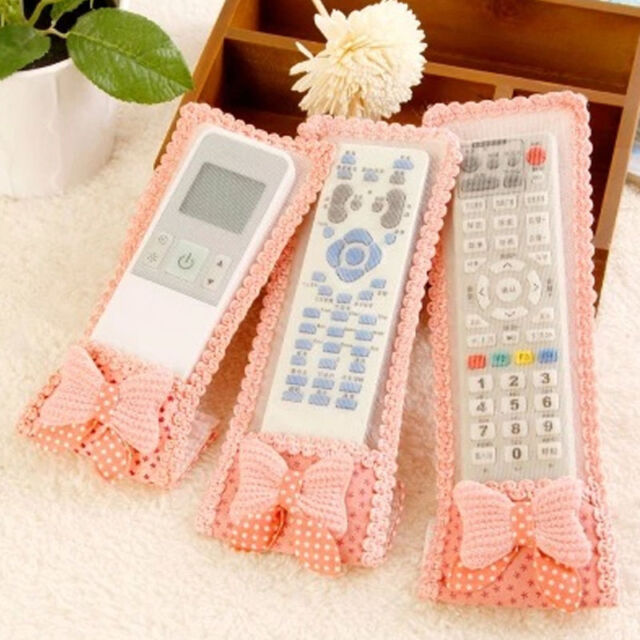 Air Conditioning TV Remote Control Dust Bowtie Cute Protective Cover