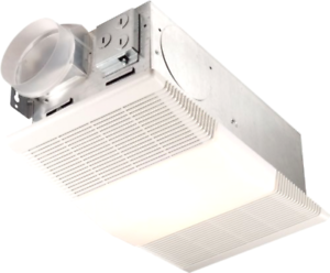 White Exhaust Fan with Heater & Light Ceiling Ventilation ...