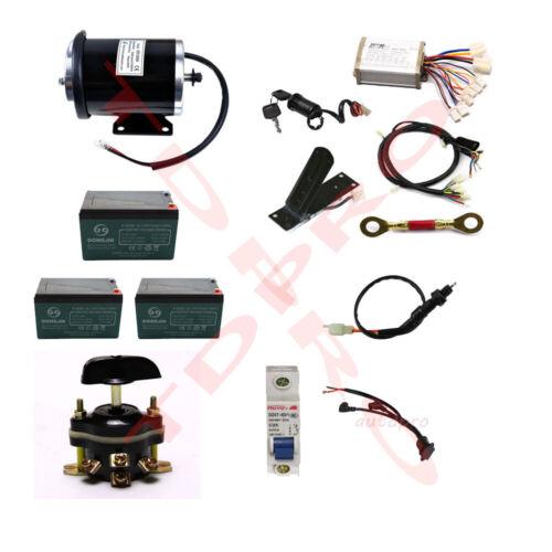 36v 800w Brush Electric Motor Kit Speed Controller Reverse Go Kart ATV e Bike