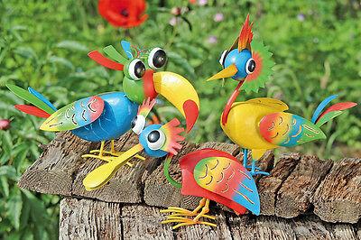 Vogel Paradiso Metall bunt bemalt, witzig (444300) NEU Gartenfigur Gartendeko
