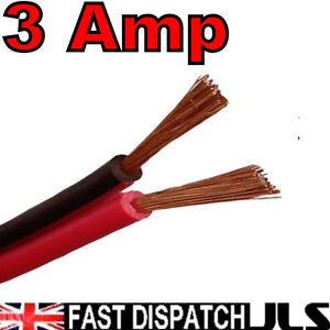 Twin-Core-3A-3-Amp-12V-Black-Red-DC-Power-Cable-per-5m