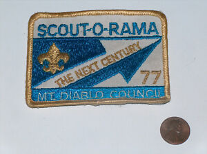BSA-Nino-Scout-de-America-1977-Scout-O-Rama-The-Next-Siglo-Parche-MT-Diablo-Coun