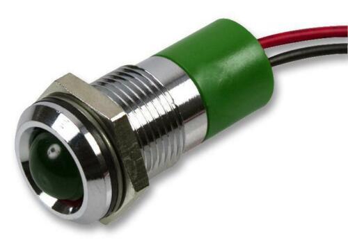 Q14P3CXXG12E APEM LED indicador de 14mm orgulloso Verde 12V