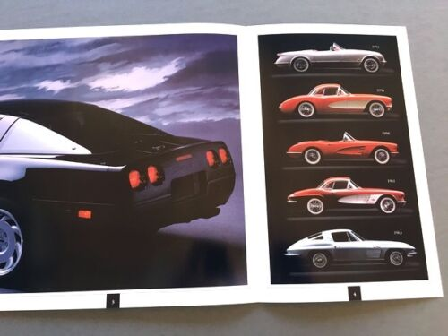 Convertible 1991 Chevrolet Corvette 32-page Original Sales Brochure Catalog