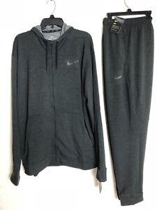 de con 888411409786 fit Heather Dri capucha Soft y Traje Nike Rayon entrenamiento 2xl Super Black pantalones IqYRwR