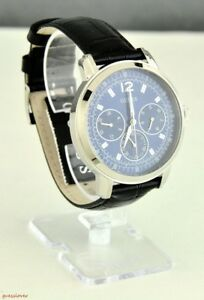 020b6e82e01 New Stylish 100% Original Watch GUESS Black Leather Blue Dial Men ...