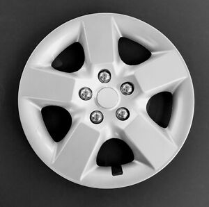 """QTY: Four 16/"""" Push-on Silver Hubcaps for 2008-2009 Nissan Rogue"""