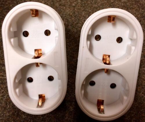 # Steckdose 4x 2fach Verteiler Mehrfachsteckdose Steckdosenverteiler Schuko Z GG