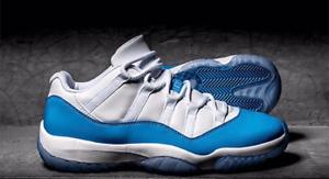 Nike air jordan 11 retrò basso zio bianco / università blu 528895-106 taglia 10