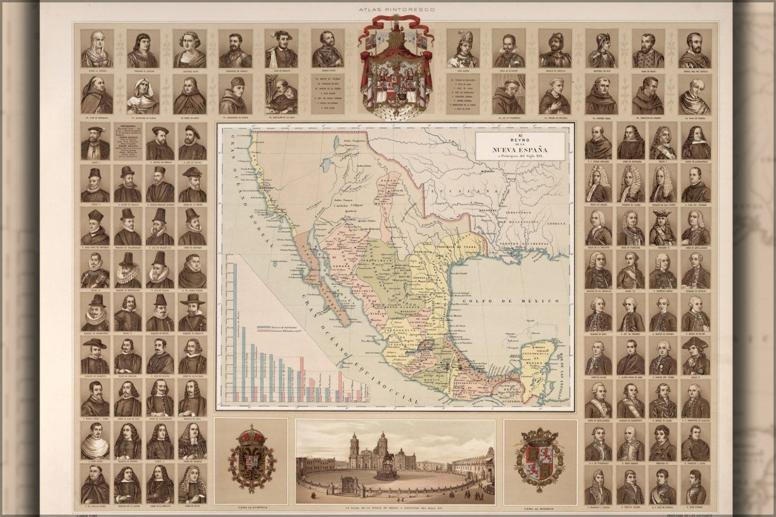 Affiche, Plusieurs Tailles; Reign Of Neuf Spain & Carte de de de Mexique 1885 | De Biens De Toutes Sortes Sont Disponibles  | Grandes Variétés  | Attrayant Et Durable  | L'exportation  8b55eb