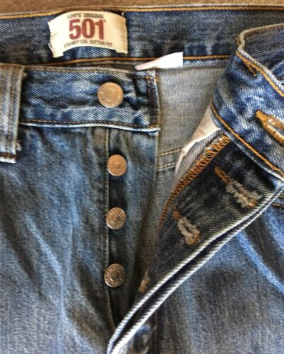 L32 Denim W32 5 Classic Jeans Inseam 501 Buttonfly Bleu Bleu Levis 31 wgfapxq