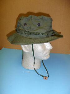 14c600032eb73 b5534 Vietnam OD Poplin Boonie Hat size 58 dark green band W8D