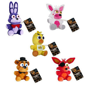 Five-Nights-at-Freddy-039-s-5-x-Plush-Doll-Set-NEW-Funko-Mangle-Bonnie-Chica-Foxy