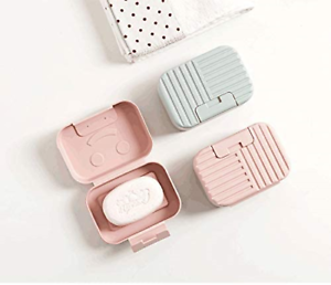 vr idea 2-Pack Soap Dish Travel Soap Box Soap Container Perfect for Gift Travel