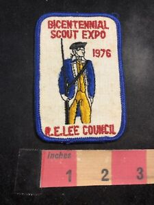 Vtg-1976-ROBERT-E-LEE-COUNCIL-Bicentennial-Scout-Expo-Boy-Scouts-Patch-93NQ