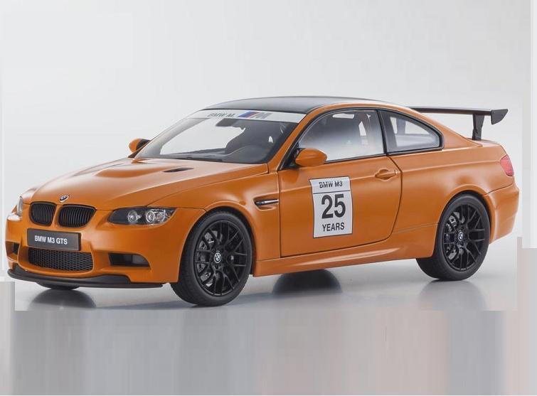 1 18 Kyosho BMW M3 GTS E92 Fire orange  25 Diecast Model Car orange 08739PM