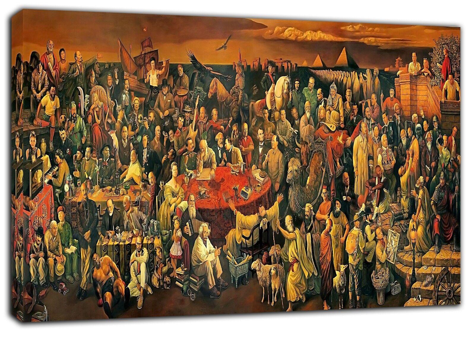 Più grandi filosofi foto foto foto con Stampa Su Tela Incorniciato Wall Art Decoration e30a08