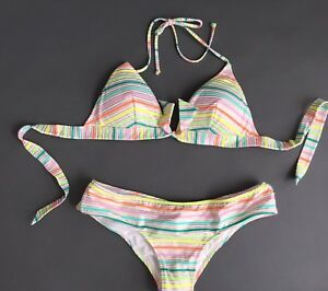 VICTORIA`S SECRET SWIMSUIT BIKINI TOP Angel & Bottom Size Medium M