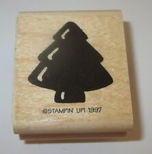 Tree Rubber Stamp Stampin' Up! Puffy Retired Wood Mounted Christmas Forest