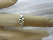 GORGEOUS ESTATE 18 KT GOLD FANCY LIGHT YELLOW DIAMOND RING !!!!!!!