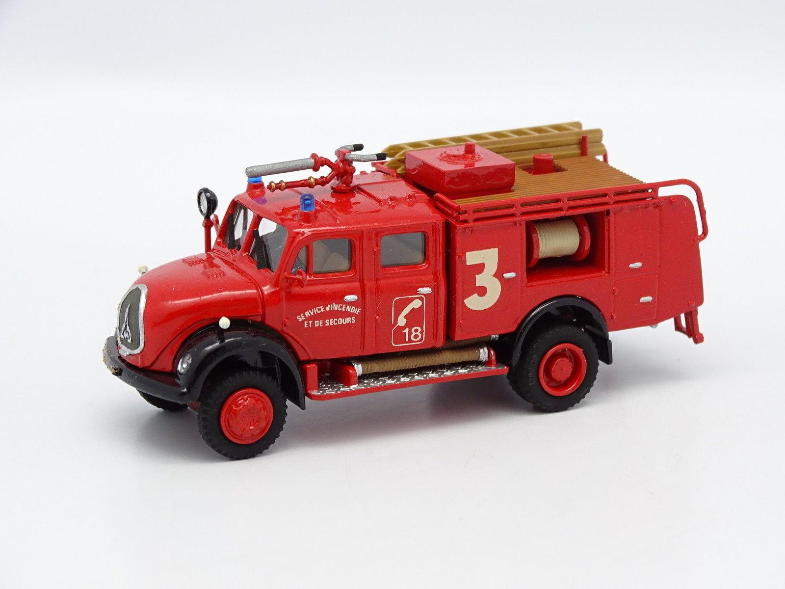 Kit monté 1 87 HO - Magirus Deutz Fourgon Citerne Pompiers France