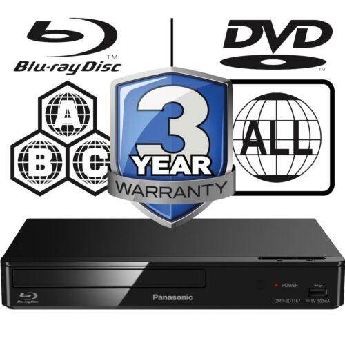 Panasonic DMP-BDT167EB 3D Multi Region All Zone Code Free Smart Blu-ray Player