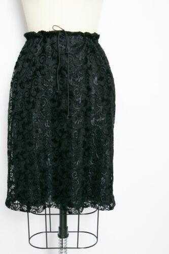 1990s Skirt Betsey Johnson Black Lace L