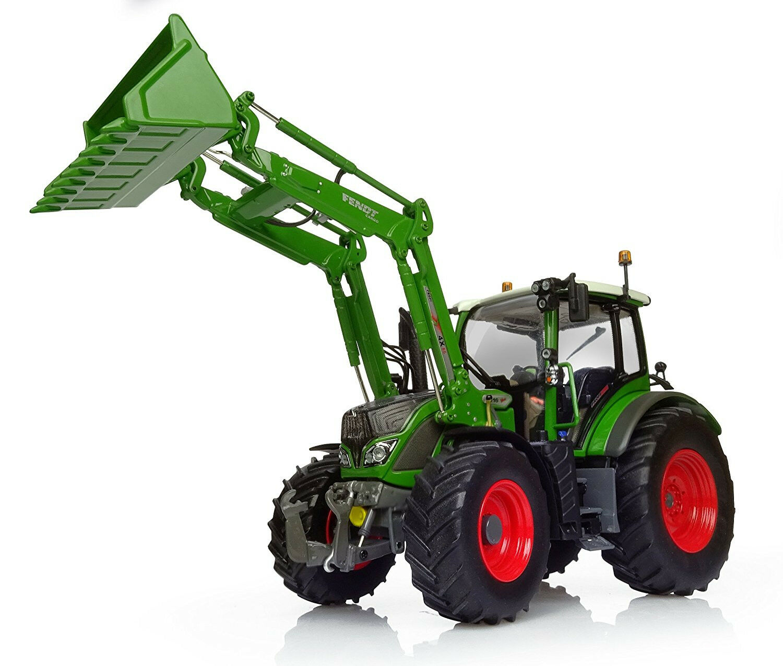 UH4981 - Tracteur FENDT 516 Vario Nature vert équipé du chargeur 4x80 et du rel