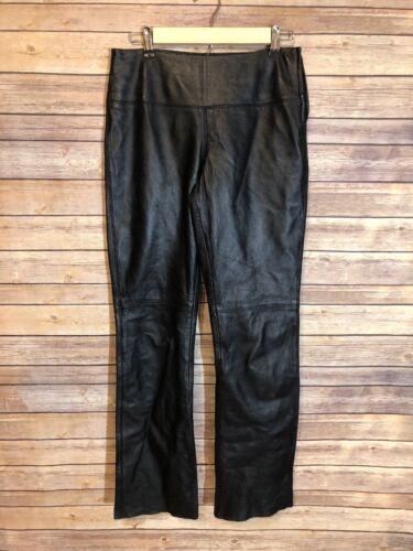 4 Pantaloni pelle neri Espressivo in vera 3 taglia motociclista da da Club Fun donna wq14fO
