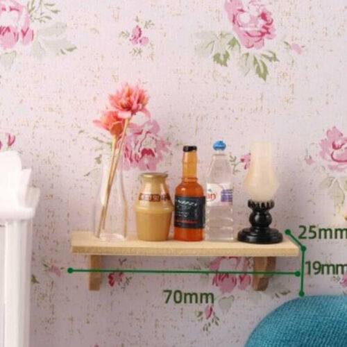 1:12 Doll House Miniature Wood Wall Shelf Model Furniture Accessories P1