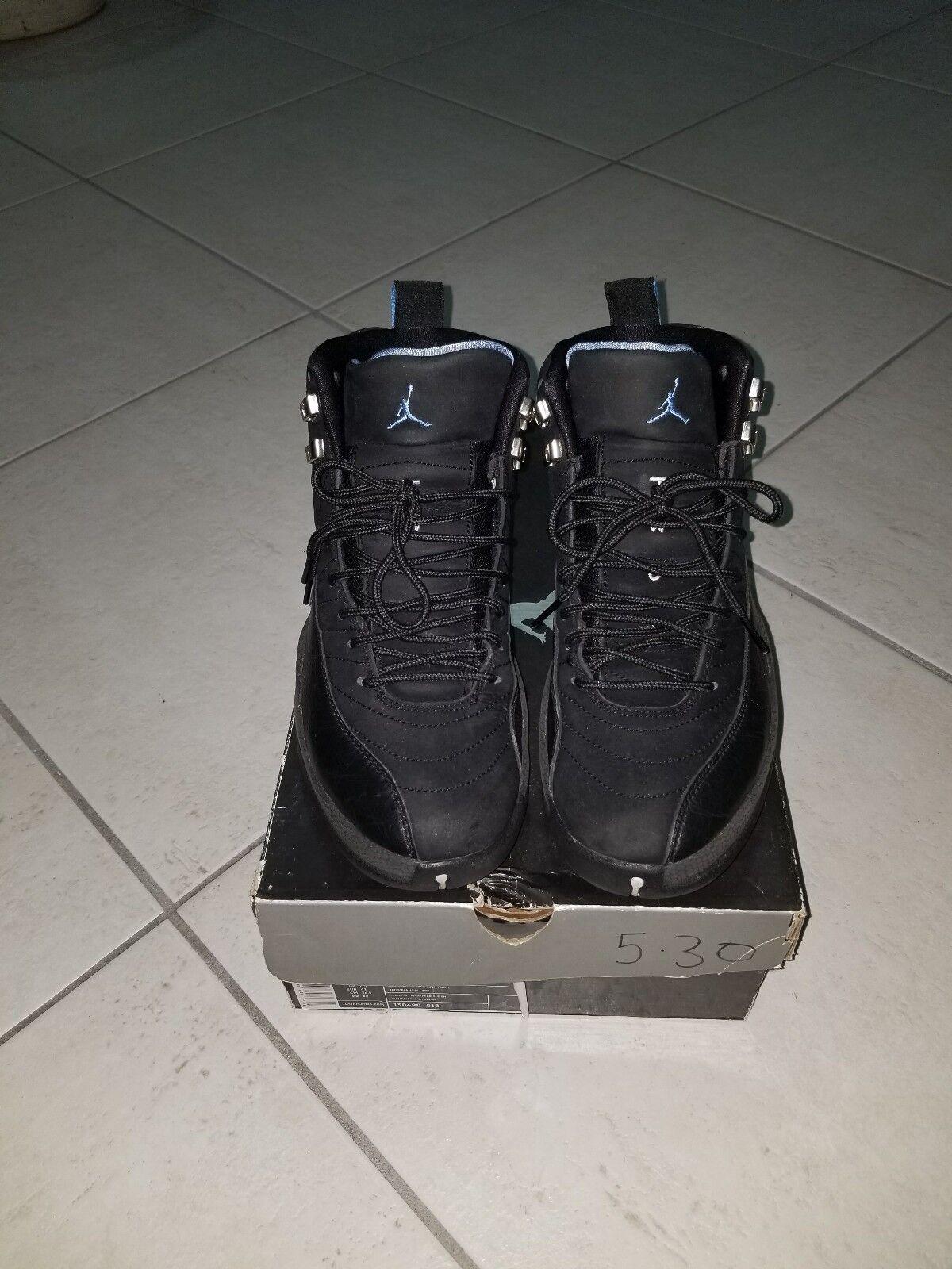 Air Jordan XII 12 Retro Black University bluee Sz 8.5