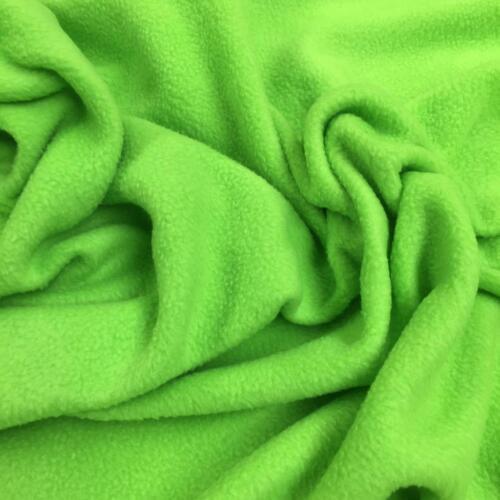 LIME GREEN Polar fleece soft fabric material antipill 150cm wide babys pets