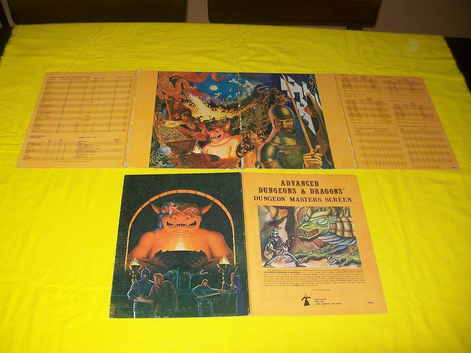 Dungeon Masters pantalla Dungeons & Dragons AD&D TSR 9024 - 14 - 2 4 Juego De Panel