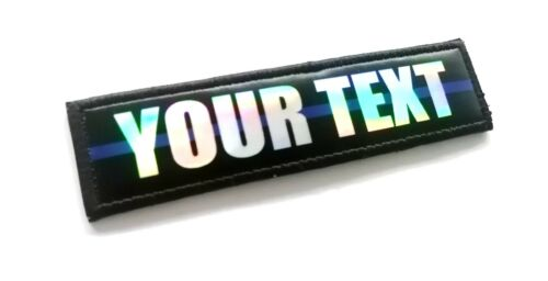 Hologram Custom name Thin Blue Red Line Police Firefighter Printed Patch