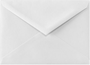 Bright White BAR Reply Card Size Envelopes (3 5 8  x 5 1 8  in.) Box of 1000