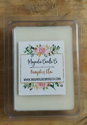 100/% Soy High Scented PUMPKIN CHAI  3.2 OZ Wax Melt Pack Magnolia Candle Co