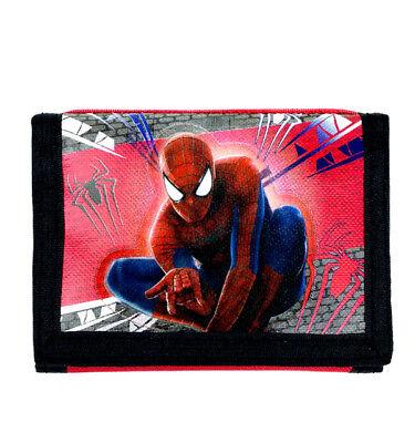 new Spiderman boys kids Wallet tri-fold coin purse