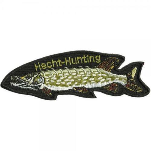 04548-Taille environ 13 cm x 4 cm Écusson-Poisson Brochet Hunting