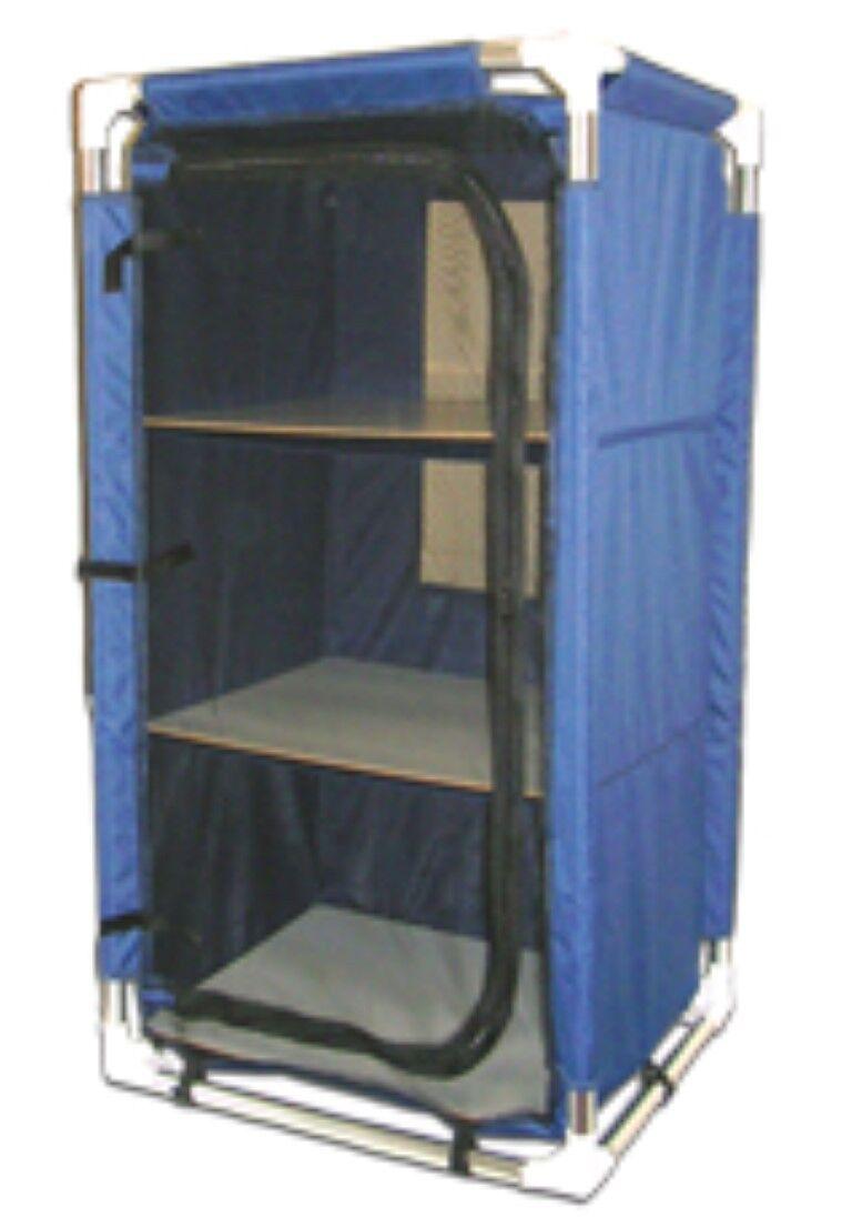 Armario de campamento plegable 57x47x105cm armario de campamento almacén de 600 d fibra de poliéster