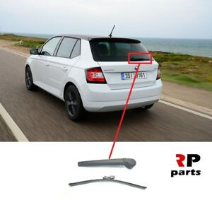 SKODA FABIA II HATCHBACK 2007-2014 REAR WIPER ARM /& BLADE WINDSCREEN  NEW