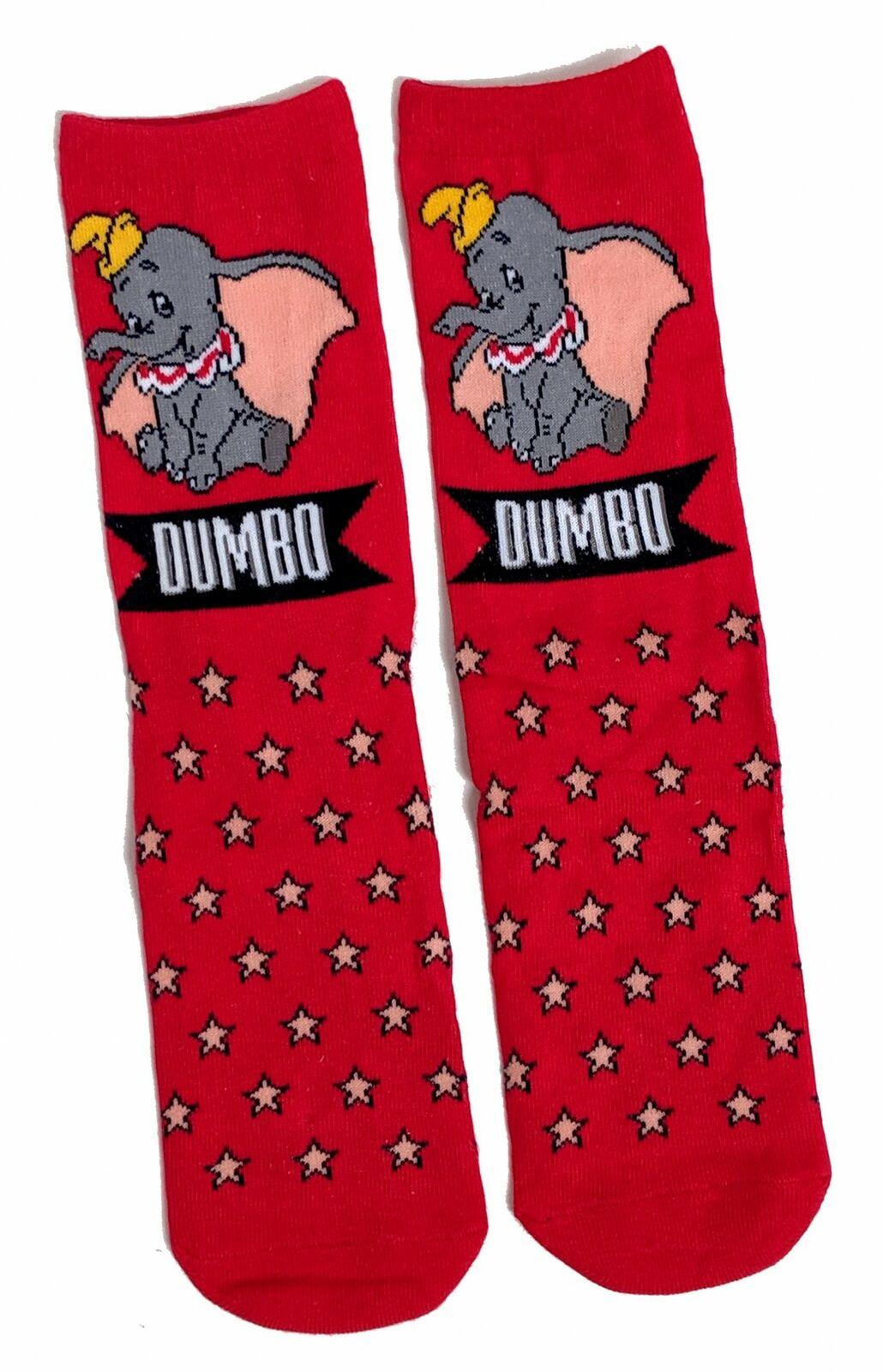 Damen Disney Festive Red Dumbo der Elefant Socken Eur 37-42