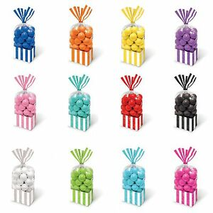 Image Is Loading 10 Striped Stripes Candy Buffet Sweet Treat Loot