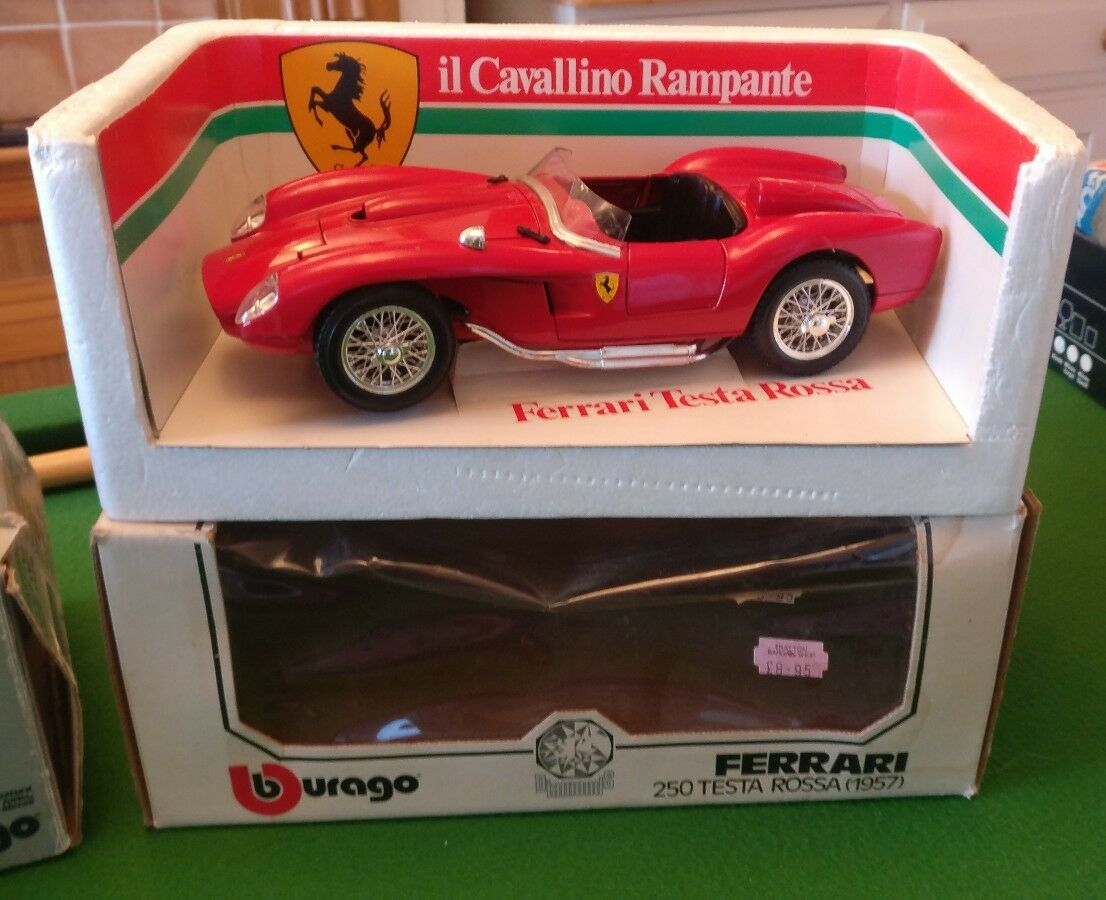 Burano Ferrari testa rossa 250 1957 model car