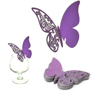 50X-Table-Mark-Wine-Glass-Cards-Favor-Butterfly-Name-Place-Party-Wedding-CO