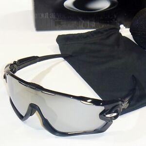 122bafaa91 Image is loading Oakley-JawBreaker-Sunglasses-Polished-Black-Frame-Chrome- Iridium-