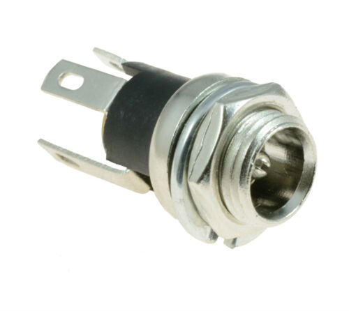 2.1mm x 5.5mm Metal Round Panel Mount Female Socket DC Connector Jack Plug