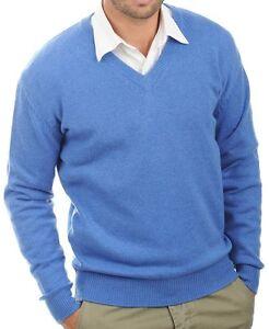 scollo Pullover Balldiri uomo V da a Xxl Heather a veli 4 100Cashmere Blue Aq3jR54L